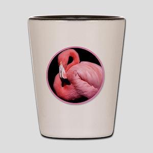 yule flamingo Shot Glass