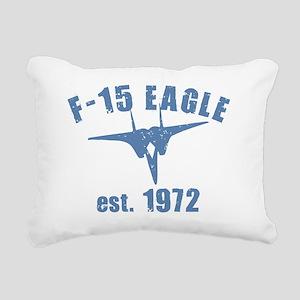 varsity-f15-1972-ltblue Rectangular Canvas Pillow