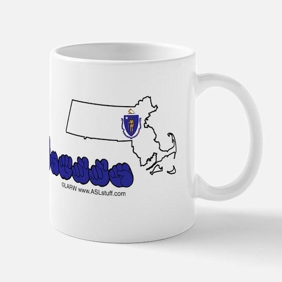 MAStateFlagILYbs Mug