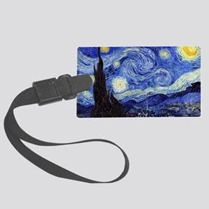 Starry Night by Vincent van Gogh Large Luggage Tag
