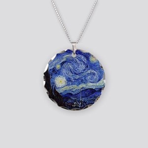 Starry Night by Vincent van  Necklace Circle Charm