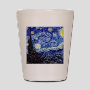 Starry Night by Vincent van Gogh Shot Glass