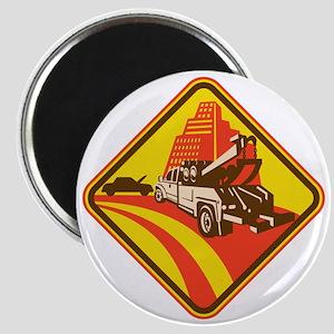 wrecker tow truck car Magnet