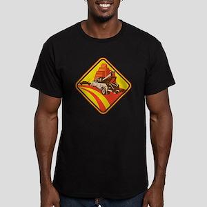 wrecker tow truck car Men's Fitted T-Shirt (dark)