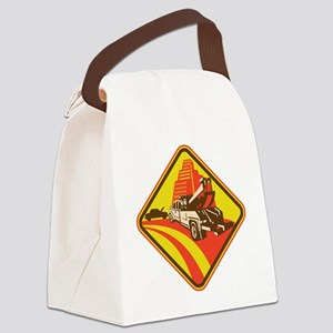 wrecker tow truck car Canvas Lunch Bag