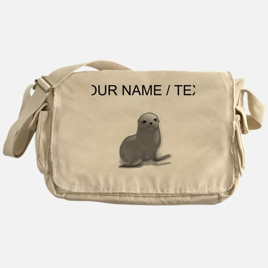 Custom Grey Seal Messenger Bag
