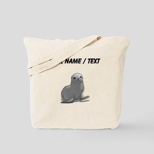 Custom Grey Seal Tote Bag