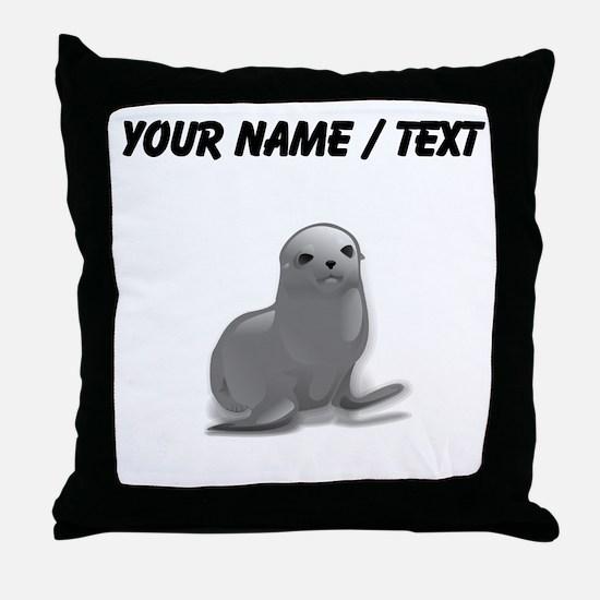 Custom Grey Seal Throw Pillow