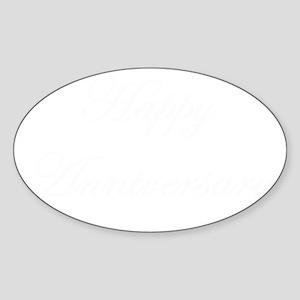 Anniversary 5 x 3 Sticker (Oval)
