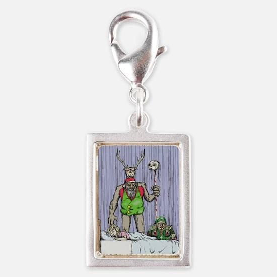 Stumpy Claus sees you when y Silver Portrait Charm