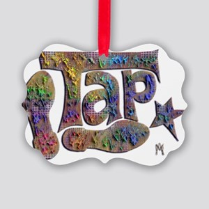 Tap spectrum clay Picture Ornament