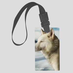 Wolf Thank You Card Large Luggage Tag