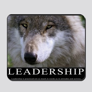 Leadership Motivational Poster Mousepad