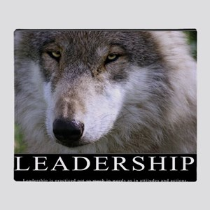 Leadership Motivational Poster Throw Blanket