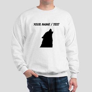 Custom Howling Wolf Silhouette Sweatshirt