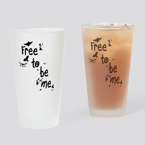 Free To Be Me Drinking Glass