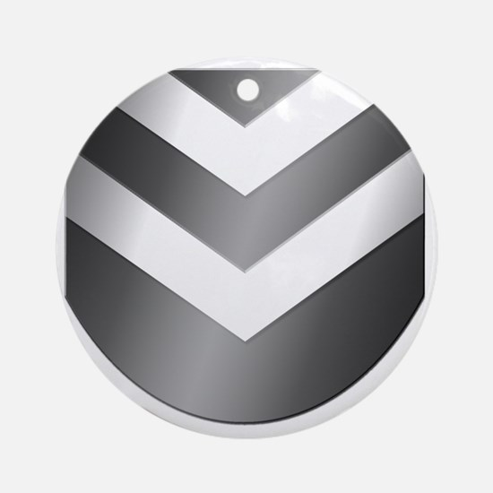 Neph-Crest-Only-Grayscale Round Ornament