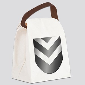 Neph-Crest-Only-Grayscale Canvas Lunch Bag