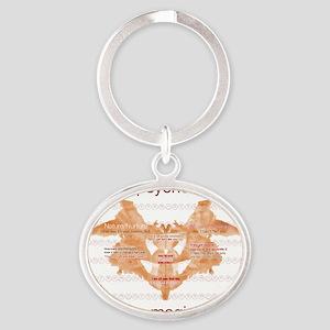 Im_a_psychologist Oval Keychain