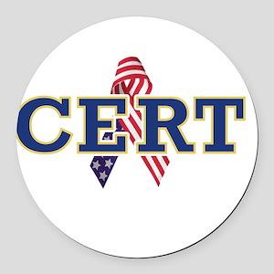 manteca_cert_logo_reverse Round Car Magnet