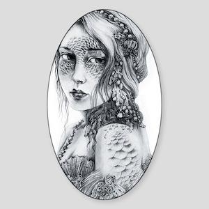 Mermaid Mask Sticker (Oval)