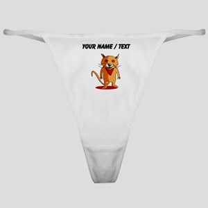 Custom Red Fox Cartoon Classic Thong