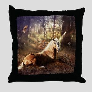 Ancients: The Unicorn Throw Pillow