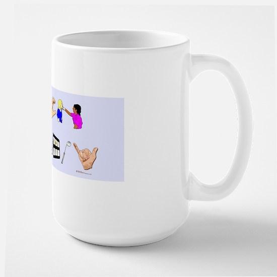 st blue rect Large Mug