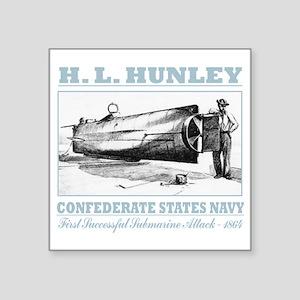 "HL Hunley (B) Square Sticker 3"" x 3"""