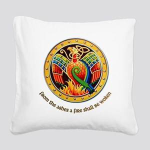 from the ashes Square Canvas Pillow