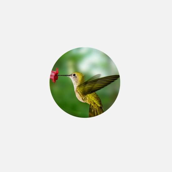 Hummingbird in flight Mini Button