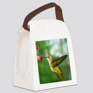 Hummingbird in flight Canvas Lunch Bag