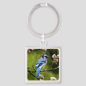 Blue Jay Square Keychain