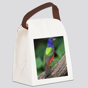 Painted Bunting Canvas Lunch Bag