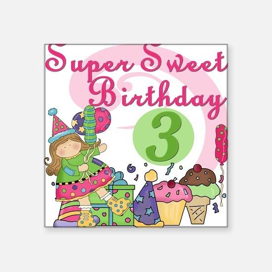 "ZXSUPERSWEET3 Square Sticker 3"" x 3"""