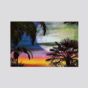 Tropical Nights Rectangle Magnet