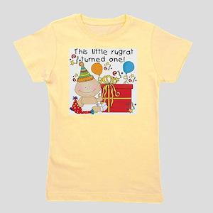 Little Rugrat 1st Birthday Girl's Tee