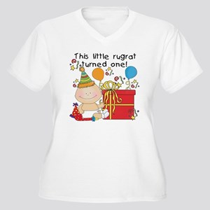 Little Rugrat 1st Women's Plus Size V-Neck T-Shirt