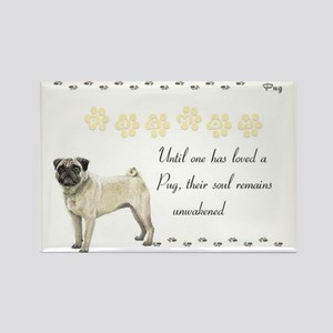 2-pugmom Rectangle Magnet