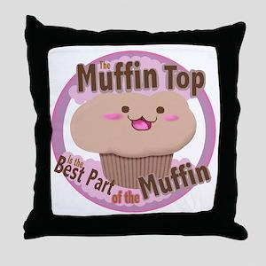 muffin top Throw Pillow