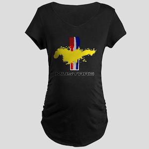 Mustard Maternity Dark T-Shirt