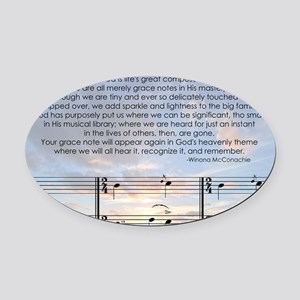Grace Note with Sky Oval Car Magnet