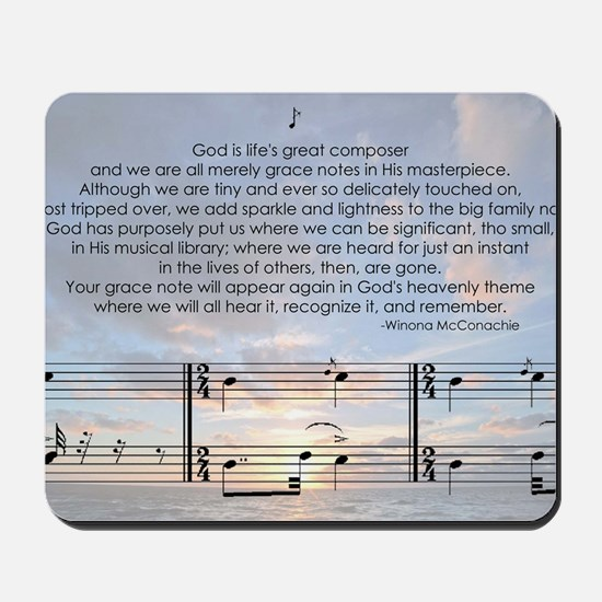 Grace Note with Sky Mousepad