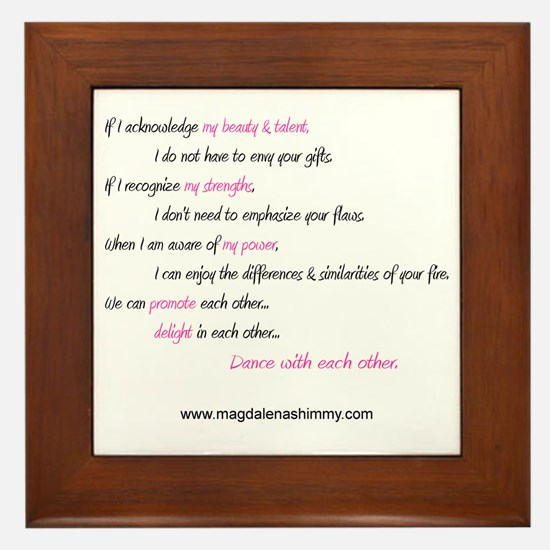 dance with each other text Framed Tile