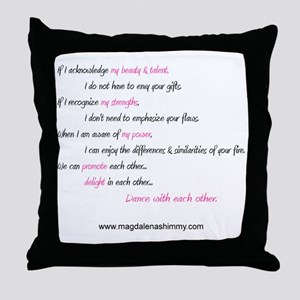 dance with each other text Throw Pillow