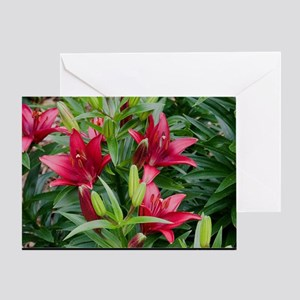 greatbigredlilies Greeting Card