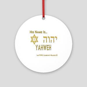 YHWH Shirt 2 Round Ornament