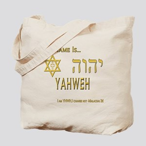 YHWH Shirt 2 Tote Bag