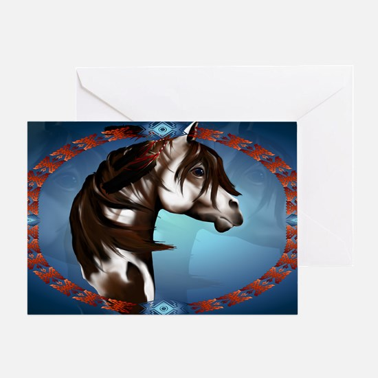 Feathered Paint Horse-Yardsign Greeting Card