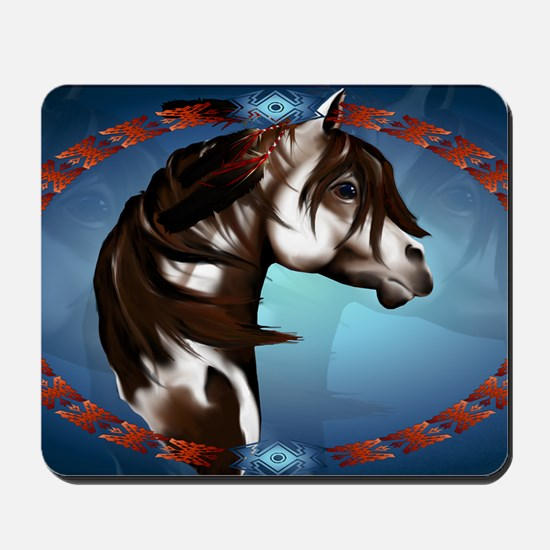 Feathered Paint Horse-Yardsign Mousepad